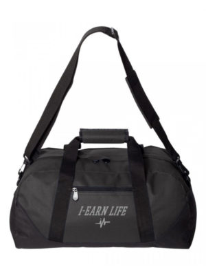 I-EarnLife Black Multi-Purpose Duffle Bag