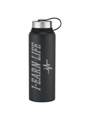I-EarnLife Black Plastic Water Bottle