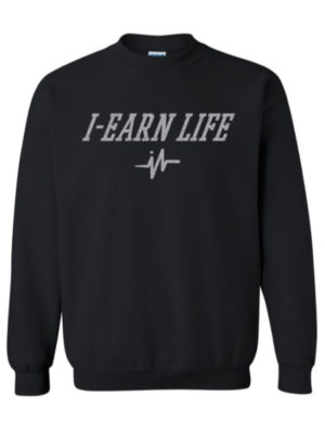 Mens Black Sweat Shirt