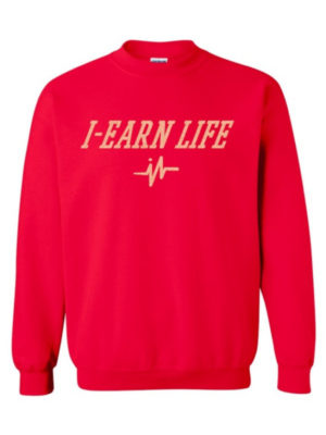 Mens Red Sweat Shirt