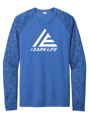 I-Earn Life Royal Blue and White Long Sleeve Shirt
