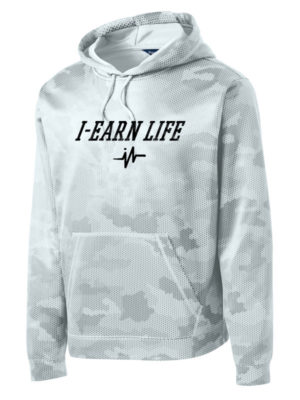 I-Earn Life White and Black Men's Pullover Hoodie