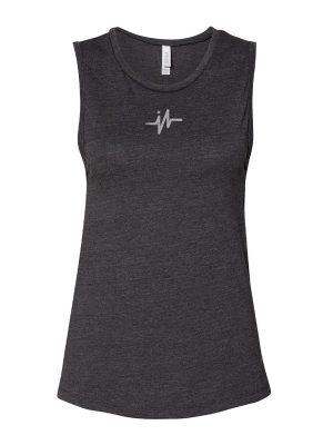 I-Earn Life Classic Sleeveless Workout Shirt (Black and Gray)